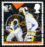 World Student Games 1991 UK Postage Stamp Royalty Free Stock Photos