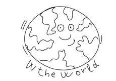 The world stylized comic book style humorist drawings. Stylized comic book style humorist drawings stock illustration