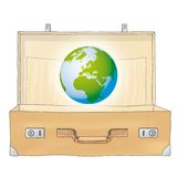 The World in a suitcase (vector) Stock Photo