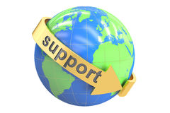 World support concept, 3D rendering Royalty Free Stock Photos