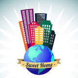 World sweet home logo, vector Royalty Free Stock Images