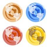 World @ symbol Stock Image
