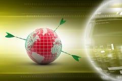 World target. 3d illustration of world target Stock Images