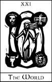 World Tarot Card royalty free illustration
