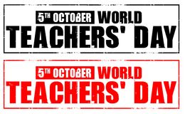 World teachers day Royalty Free Stock Photography