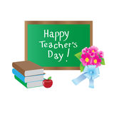 World Teachers' Day. Card for congratulations vector illustration