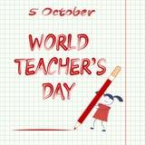 World Teachers` Day. Stock Photography