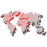 World tech map Stock Photos