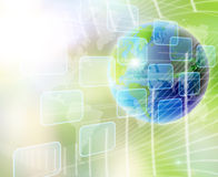 World and technology. Abstract world and technology background stock photos