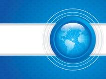 World technology. Blue World technology brochure vector Royalty Free Stock Photography
