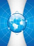 World technology. Blue World technology brochure vector Royalty Free Stock Photo