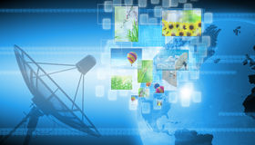 World technology. Abstract the world technology background stock image