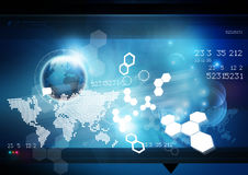 World Technology Background Stock Image