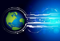 World with technology background Royalty Free Stock Photo
