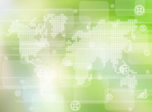 World technology background. Abstract the world technology background stock image