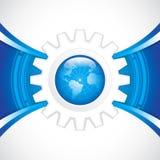 World technology. Brochure.Gear vector Stock Photography