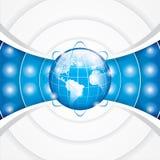 World technology. Brochure vector illustration Stock Image