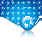 World technology. Brochure vector illustration Stock Photography
