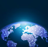 World technology network background, illustration Royalty Free Stock Photos