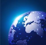 World technology network background, illustration Stock Image