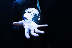World technology. Solution and protection stock photo