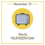World Television Day. November 21 Royalty Free Stock Photo