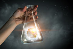 The world in test tube Royalty Free Stock Photos