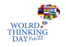 World thinking day, February 22 Stock Photos
