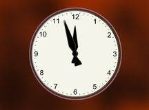The World Threat Clock Royalty Free Stock Images