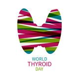 World Thyroid Day template Stock Images