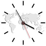 World time. Illustration hours as time in the world Stock Images