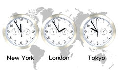 World time. Royalty Free Stock Photos
