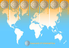 World Time. The time of the world Stock Image