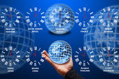 The world time nine Countries Royalty Free Stock Image