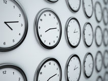 World time wall Royalty Free Stock Image