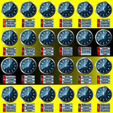 World time zone clock display Stock Images