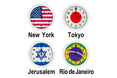 World Time Zone 3D. World Time Zone on the white background Stock Image