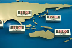 World Time Zone Map Royalty Free Stock Photos