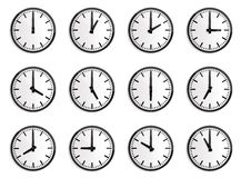 World time zone, wall clock  Stock Images
