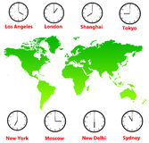 World Time Zones Royalty Free Stock Photo