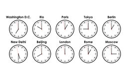 World time zones Royalty Free Stock Images