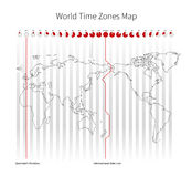 World Time Zones Map Royalty Free Stock Photos