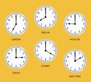 World time zones. Royalty Free Stock Image