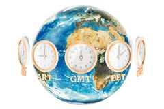 World Timezone concept, 3D rendering Stock Photography
