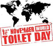 World toilet day rubber stamp Stock Photography