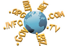 World top level URL internet WWW domain names Stock Image