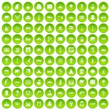 100 world tour icons set green. 100 world tour icons set in green circle isolated on white vectr illustration Vector Illustration