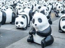 World tour 1,600 pandas in Bangkok Stock Photography