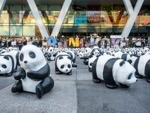 World tour 1,600 pandas in Bangkok Royalty Free Stock Image