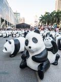 World tour 1,600 pandas in Bangkok Royalty Free Stock Photos